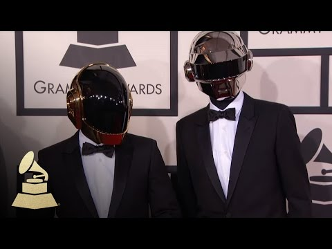 Daft Punk on the 56th GRAMMY Red Carpet Fashion Cam | GRAMMYs