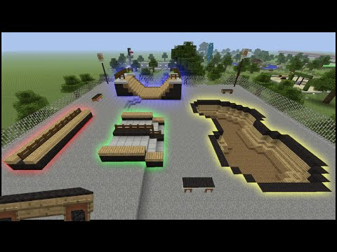 Minecraft Tutorial: How To Make A Skate Park