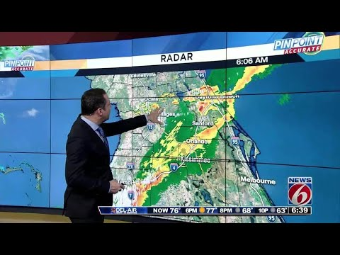 Storms quickly move through Central Fla.