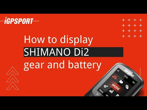 iGS620︱How to display SHIMANO Di2 gear and battery