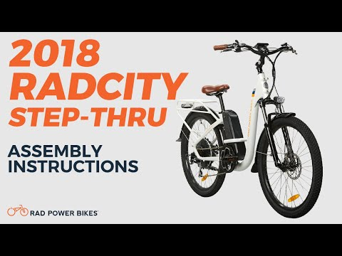 2018 Radcity Step Thru Assembly And Operation Youtube