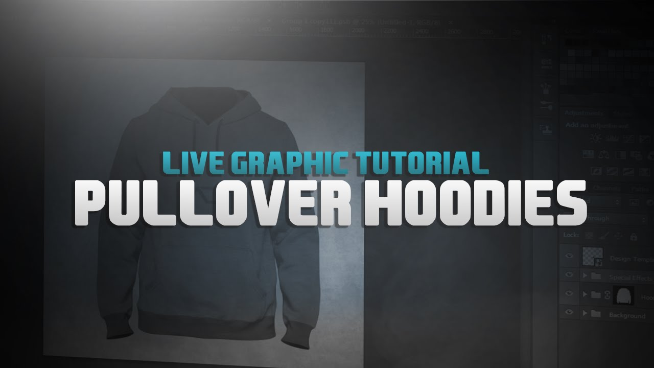 Pullover Hoodies l Design Tutorial #5 l Best Template Included ...