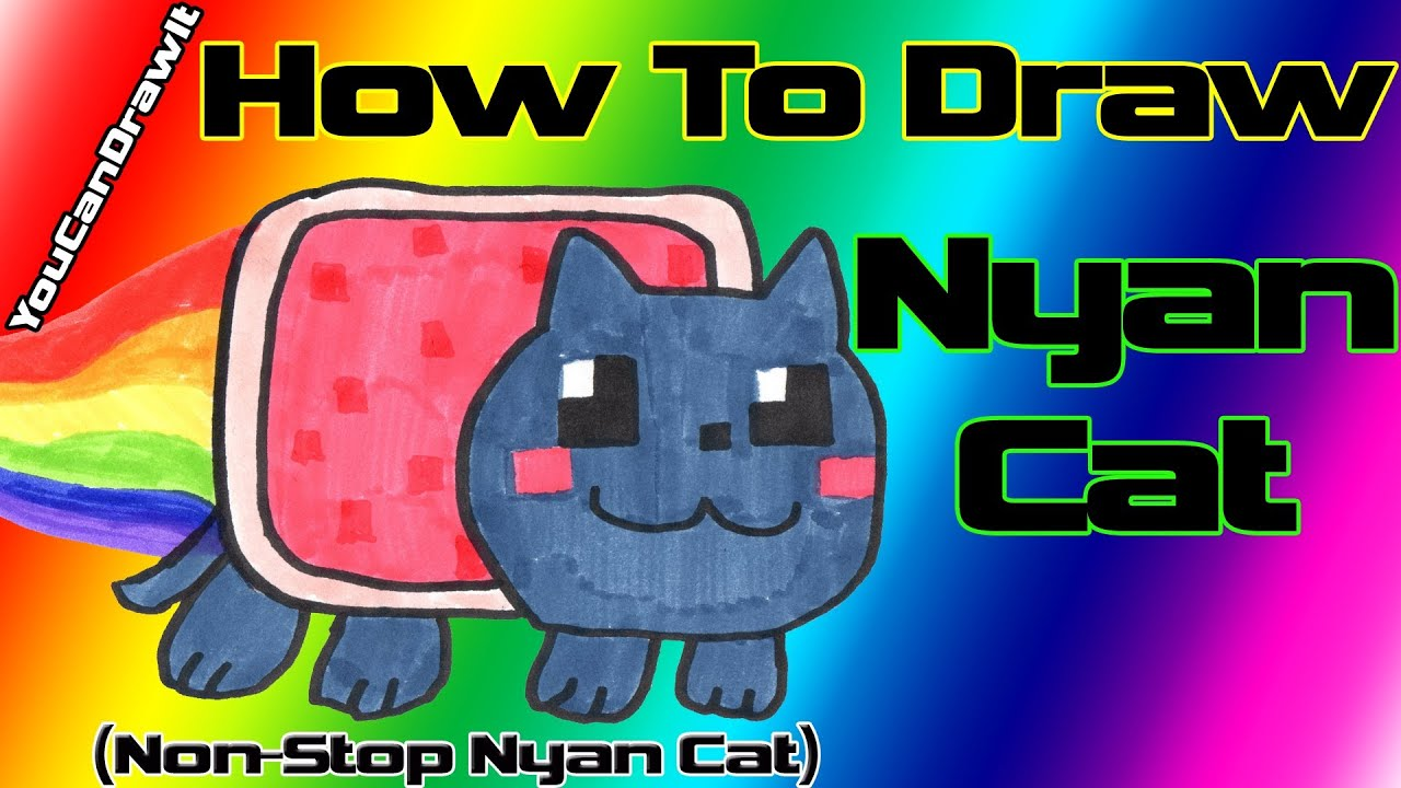 How To Draw Nyan Cat From Non Stop Nyan Cat Youcandrawit ツ