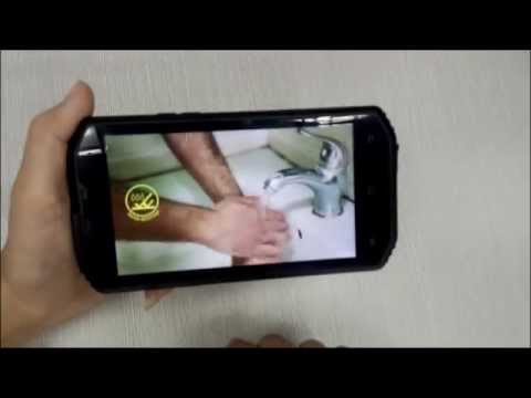 NO.1 X-Men X2: 4G LTE Android4.4 rugged smartphone NO.1 X-Men X2 black hands on