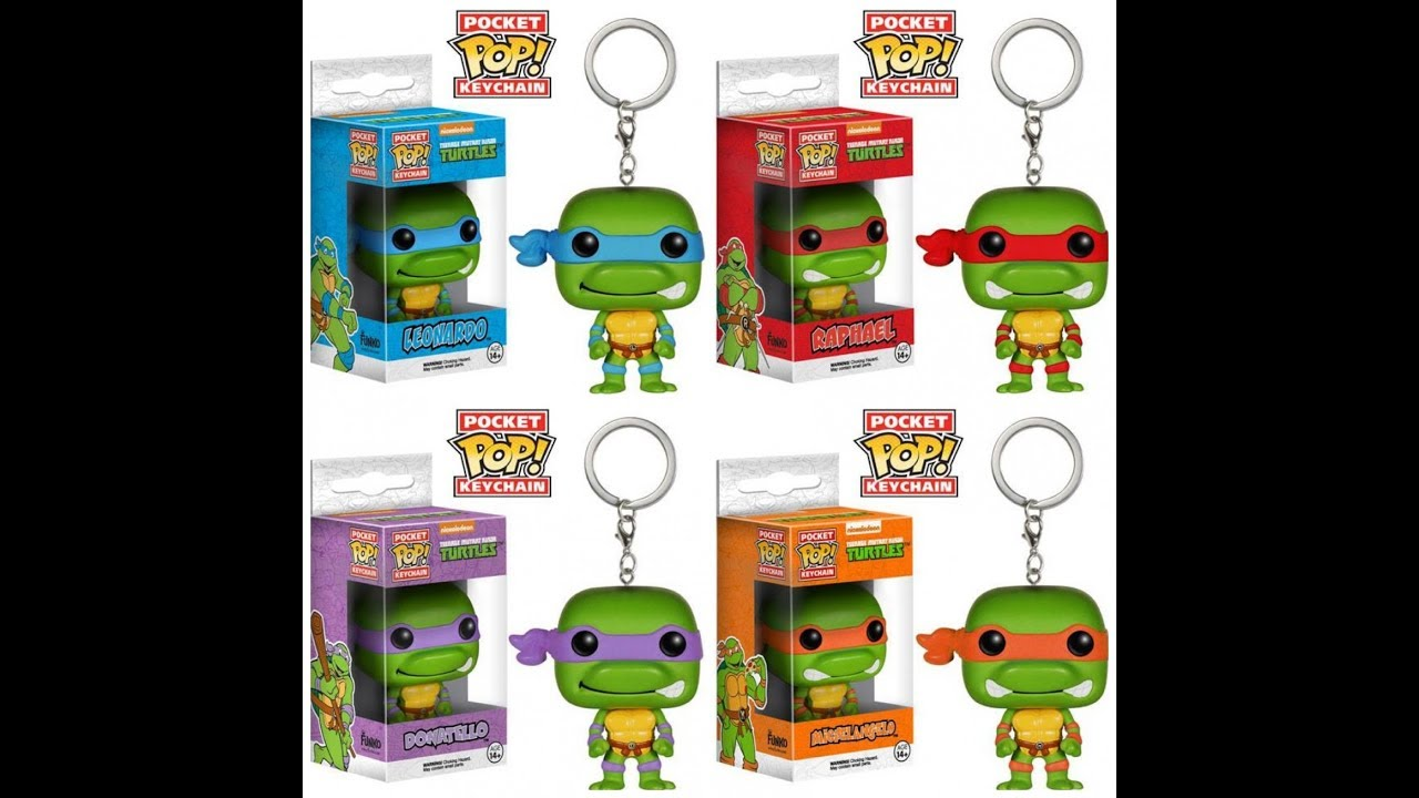 Teenage Mutant Ninja Turtles Keychain-Leonardo Donatello Raphael Michelangelo