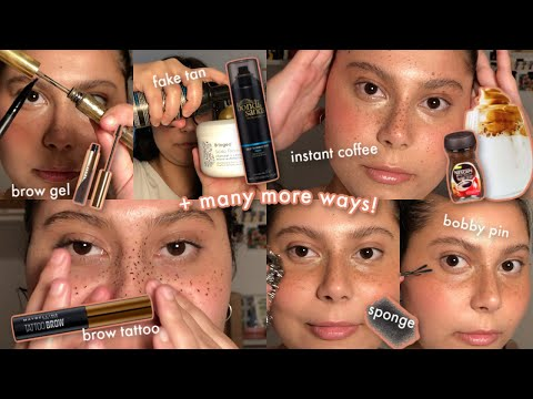 EVERY WAY TO CREATE FAUX FRECKLES (18 methods) - YouTube