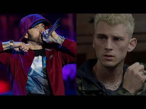 """Eminem Disses Machine Gun Kelly On Stage, MGK Responds """"Too Scared To Perform Your Weak Diss Track"""""""