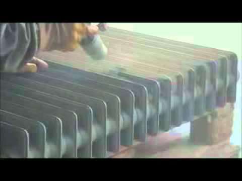 sabbiatura termosifone / radiatore in ghisa