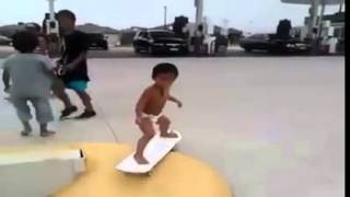 Roller-skating smart baby Thumbnail