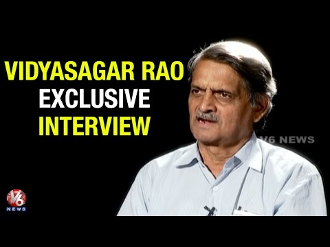 T Government Irrigation Advisor Vidyasagar Rao Exclusive Interview | V6 Innerview (06-06-2015)