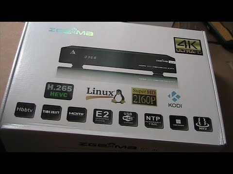 ZGemma H7 UHD 4K Satellite receiver unboxing and first impre