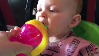 Jade's first sippy cup