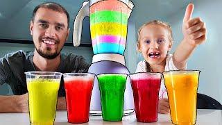Aprende colores con frutas y licuadora para bebés y niños en edad preescolar | Rimas infantiles
