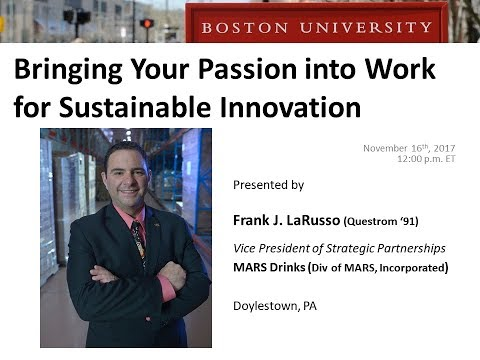 Bringing Your Personal Passion into Work for Sustainable Innovation