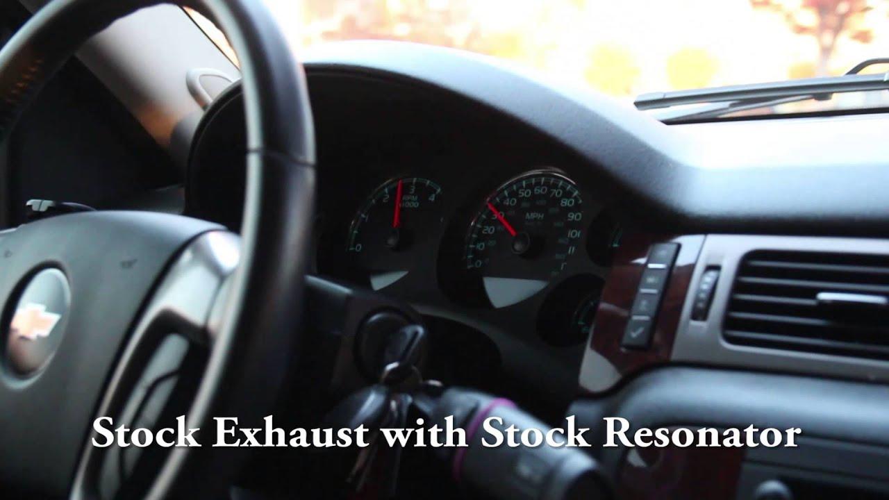 2011 chevy tahoe borla proxs exhaust resonator delete