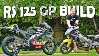 Building a Two-Stroke Race Replica Aprilia RS 125 Old Body New Chassis Conversion