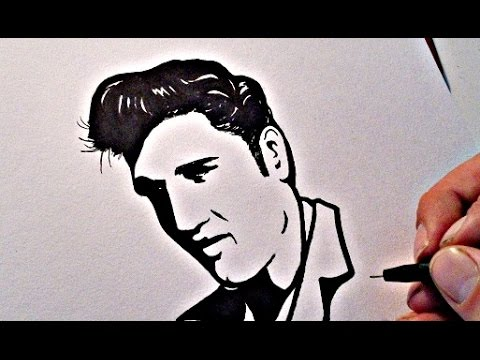 how to draw elvis presley