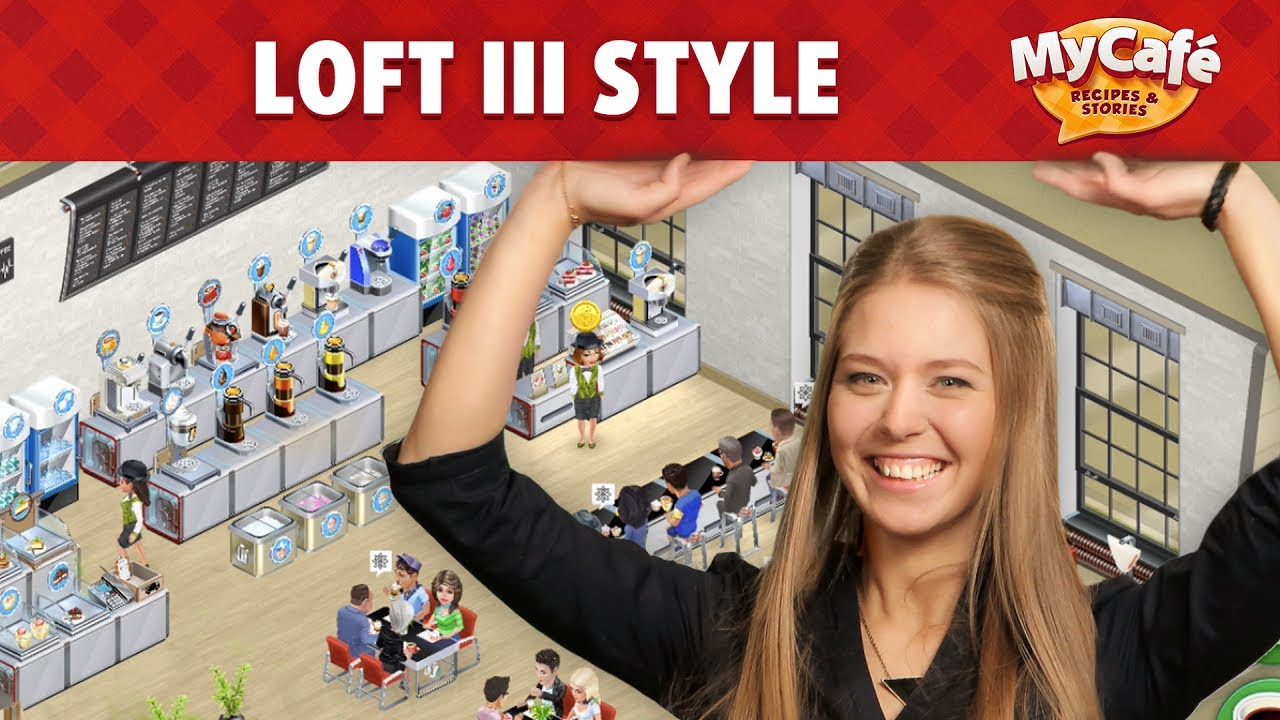 my cafe in loft iii style youtube. Black Bedroom Furniture Sets. Home Design Ideas