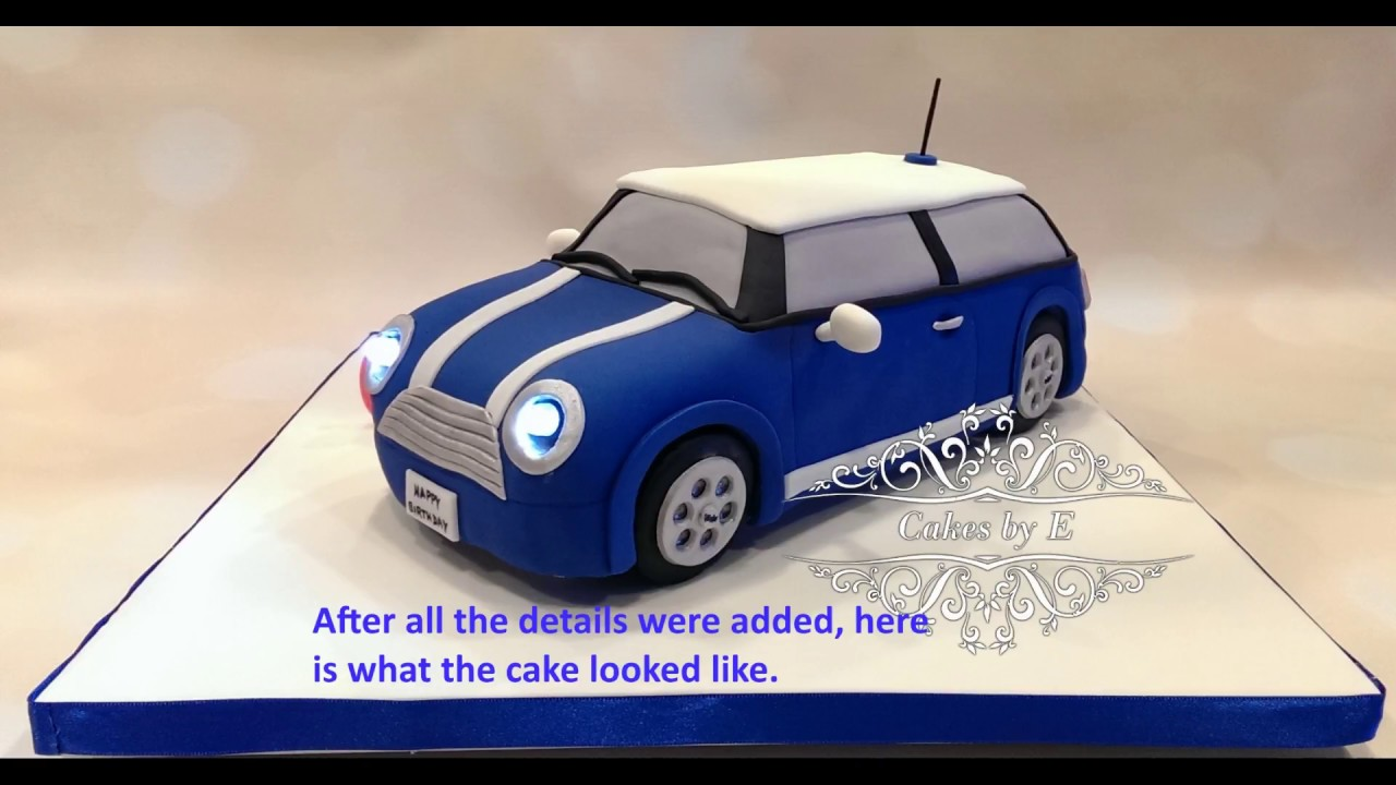 how to make a mini car cake from scratch