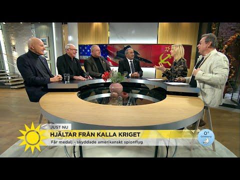 Svenska flyghjältar hyllas med medalj av amerikansk stridspilot - Nyhetsmorgon (TV4)