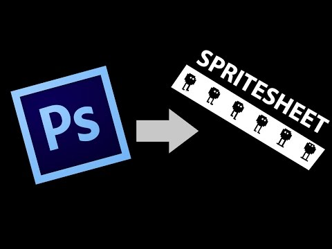 how to create a sprite sheet in photoshop cs6