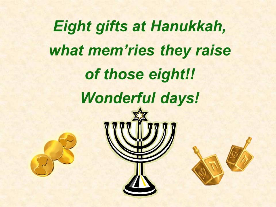 Eight Days of Hannukah vocals YouTube