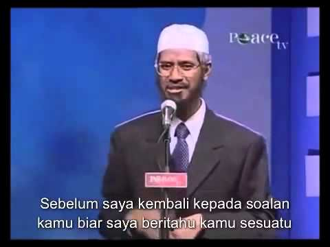 HIGH CHRISTIAN COLLEGE DISSAPOINTED AFTER CHALLENGE DR ZAKIR NAIK (INDONESIAN SUBTITLE)