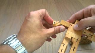 Cubebot Wooden Transforming Robot