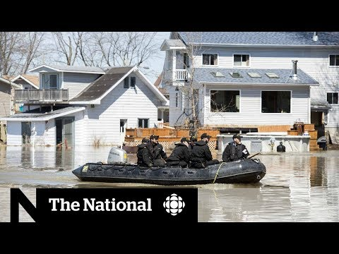 CBC News: The National: Quebec battles floodwaters
