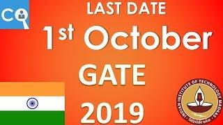 GATE 2019 Form Filling Details | Notification