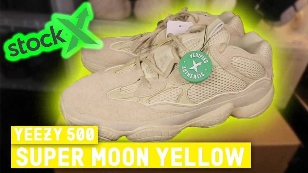 reputable site fbe63 41bf3 YEEZY 500 SUPERMOON YELLOW REVIEW STOCKX!!!