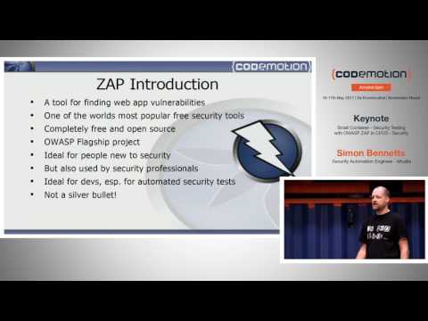 Security Testing with OWASP ZAP in CI/CD - Simon Bennetts -