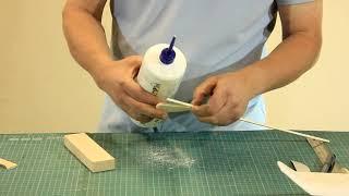 Изготовление простейшей модели планера из пенопласта урок 4
