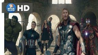 Avengers: Age Of Ultron Hindi (10/12) Avengers Vs Ultrons Scene MovieClips
