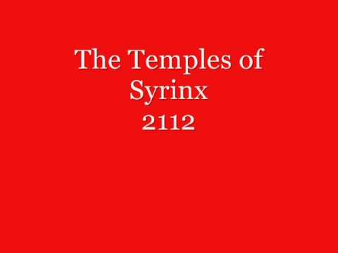 rush 2112 The Temples of Syrinx with lyrics