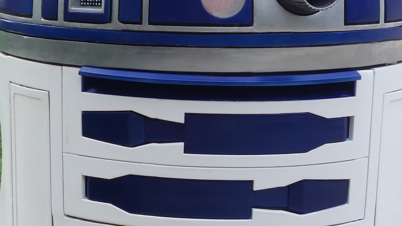 3d printed life size r2 d2 project part 4 the body youtube