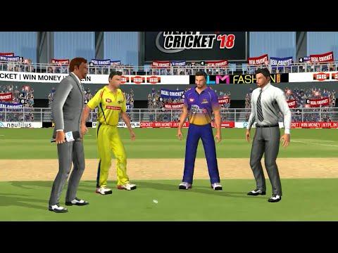 3rd May IPL 11 Chennai Super Kings Vs Kolkata Knight Riders Real cricket 2018 mobile Gameplay - 동영상