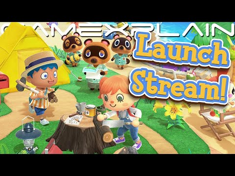 Animal Crossing: New Horizons - AMERICAN LAUNCH Livestream from YouTube · Duration:  2 hours 13 minutes 51 seconds