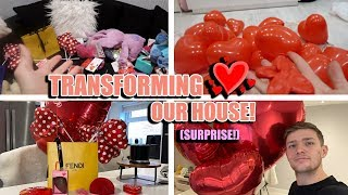 DECORATING THE WHOLE HOUSE ON VALENTINE'S DAY TO SURPRISE MY GIRLFRIEND