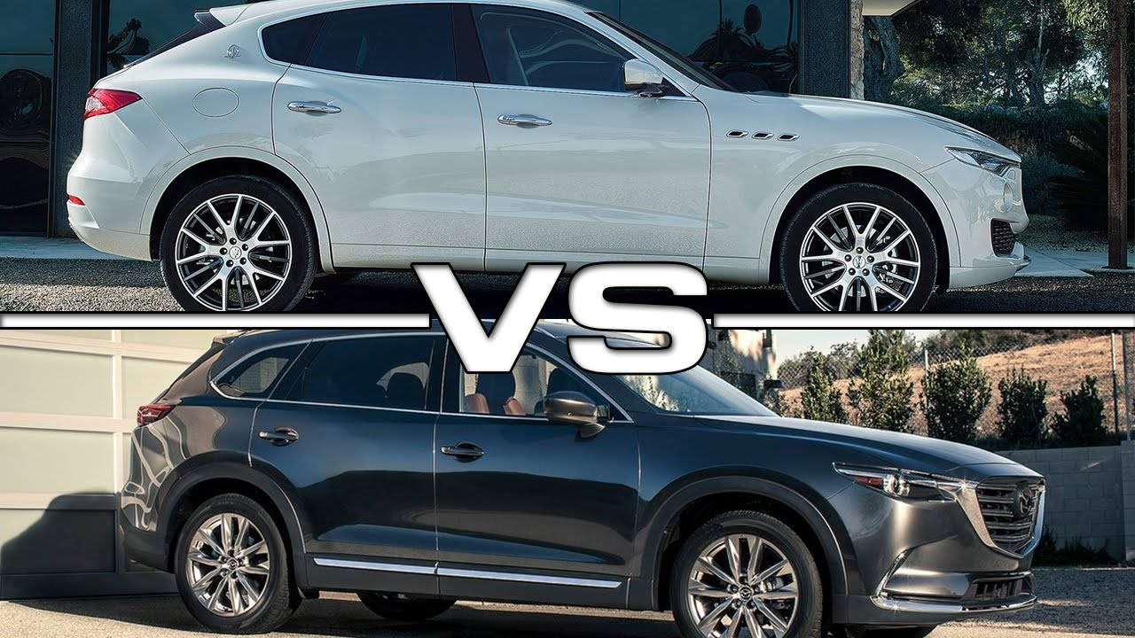 maserati levante vs mazda cx 9 youtube. Black Bedroom Furniture Sets. Home Design Ideas