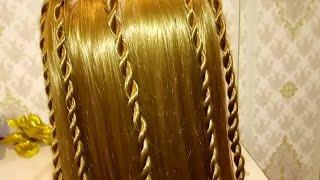 Лёгкая и быстрая прическа Жгутики прическа на каждый день прическа на распущенные волосы
