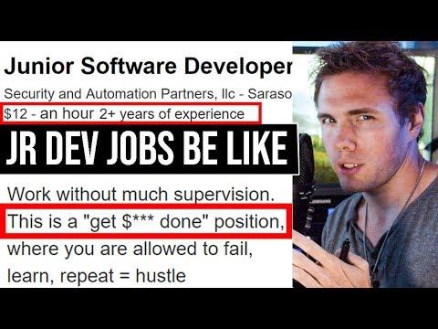 GARBAGE PROGRAMMING JOBS 3 | Jr. Developers #grindreel