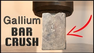 Crushing $300 Gallium Bar with Big Hydraulic Press!