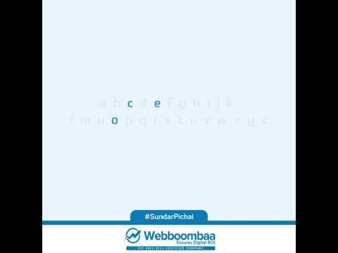 Webboombaa Creation   CEO Of Alphabet Inc.   Sundar Pichai