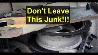 Things You Should Never Leave In The Self Serve Salvage Junkyard. - Votd