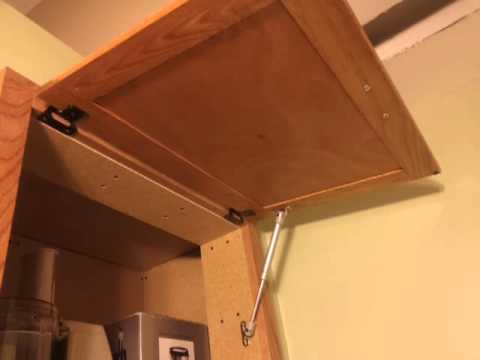 Gas strut support hinge vertical cabinet door & Gas strut support hinge vertical cabinet door - YouTube