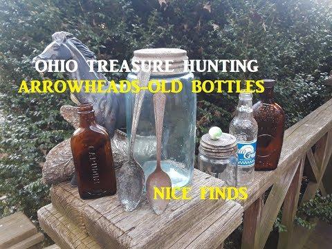 OHIO Arrowhead Hunting & Bottle Digging Archaeology Treasure Documentary
