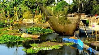 Natural Fishing In Bangladesh | Amazing Traditional Net Fishing