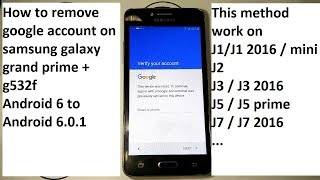 how to remove google account on samsung j1 j2 j3 j5 j7 grand prime mini last security 2018 Android 6