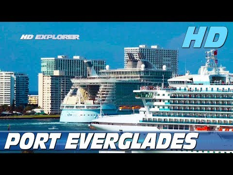 Cruise ships leaving Port Everglades (Fort Lauderdale) - Part 2